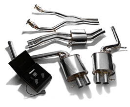 ARMYTRIX Valvetronic Exhaust System with Front and Mid Pipes (Stainless) for Audi A5 B8
