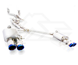 Fi Exhaust Valvetronic Exhaust System with Front and Mid X-Pipe and Remote (Stainless) for Audi A5 B8