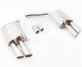 Meisterschaft by GTHAUS HP High Performance Touring Exhaust System with Quad Tips (Stainless) for Audi A5 B8
