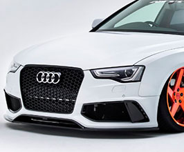 NEWING Alpil Front Bumper with LED Daylights (FRP) for Audi A5 B8