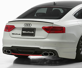 WALD Sports Line Rear Skirt Half Spoiler (FRP) for Audi A5 B8