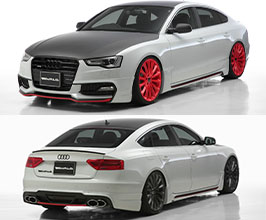 WALD Sports Line Half Spoiler Body Kit (FRP) for Audi A5 B8