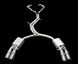 iPE Exhaust Valvetronic Exhaust System with Front and Mid Pipes (Stainless) for Audi A5 B9