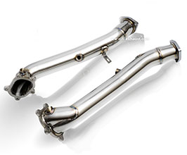 Fi Exhaust Ultra High Flow Downpipes (Stainless) for Audi A6 C7