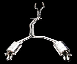 iPE Exhaust Valvetronic Exhaust System with Front and Mid Pipes (Stainless) for Audi A6 C7