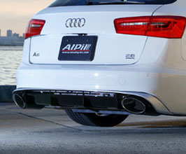 NEWING Alpil Rear Diffuser with Muffler Cutter (FRP) for Audi A6 C7