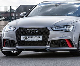PRIOR Design PD600R Add-On Front Lip Under Spoiler (FRP) for Audi A6 C7