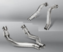 Akrapovic Cat Bypass Pipes with Link Pipes Set for Audi Sport Exhaust (Stainless) for Audi A7 C7