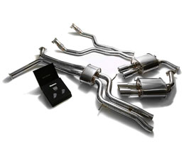 ARMYTRIX Valvetronic Exhaust System with Front and Mid Pipes (Stainless) for Audi A7 C7