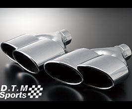 WALD DTM Sports TWIN240x2 Exhaust Muffler Cutter Tips (Stainless)