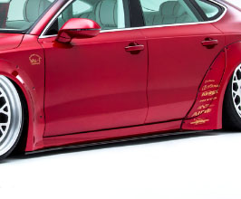NEWING Alpil x LB Works Side Under Diffusers (FRP) for Audi A7 C7