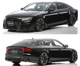 WALD Sports Line Half Spoiler Body Kit (FRP) for Audi A7 C7