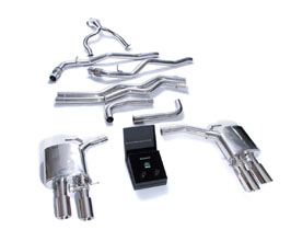 ARMYTRIX Valvetronic Exhaust System with Front and Mid Pipes (Stainless) for Audi A7 C8