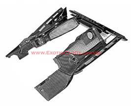 Exotic Car Gear Engine Bay Side and Rear Cover Panels (Carbon Fiber) for Audi R8 1