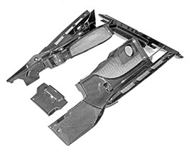 Exotic Car Gear Engine Bay Front and Side and Rear Cover Panels (Carbon Fiber) for Audi R8 1