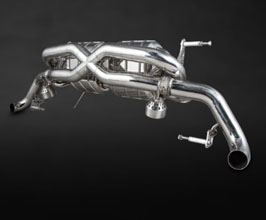 Capristo Valved X-Pipe Exhaust (Stainless) for Audi R8 1