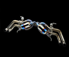 ROWEN PREMIUM01TR Heat Blue Titan Exhaust System with Variable Valves (Titanium) for Audi R8 1