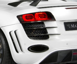 MANSORY Rear Bumper Vent Grid Covers (Carbon Fiber) for Audi R8 1