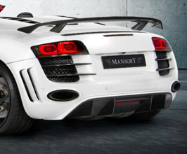 MANSORY Rear Bumper with Diffuser (Partial Primed Carbon Fiber) for Audi R8 1