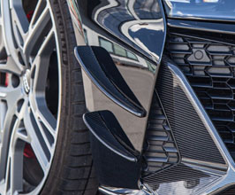 Capristo Front Bumper Fin Canards (Carbon Fiber) for Audi R8 2