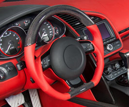 MANSORY Sport Steering Wheel - Modification Service (Leather with Carbon Fiber) for Audi R8