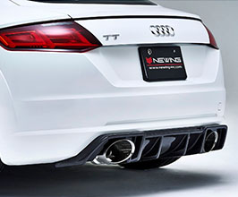 NEWING Alpil Rear Diffuser with Muffler Cutter for Audi TT MK3