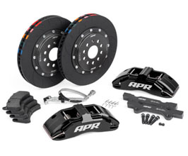 APR Front Brake Kit - 6POT with 350mm 2-Piece Rotors (Black) for Audi TT MK3