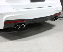 3D Design Aero Rear Diffuser - Quad (Carbon Fiber) for BMW 3-Series F