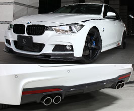 3D Design Aero Spoiler Lip Kit - Quad (Carbon Fiber) for BMW 3-Series F