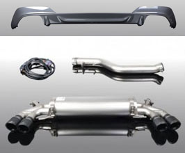 AC Schnitzer Exhaust System with Quad Tips and Rear Diffuser (Stainless) for BMW 3-Series G