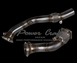Power Craft Cat Bypass Straight Pipes (Stainless) for BMW 4-Series F