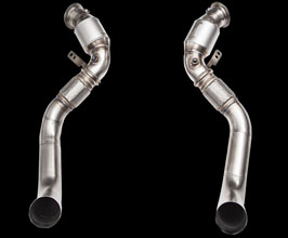 iPE Exhaust Cat Pipes - 200 Cell (Stainless) for BMW 5-Series F