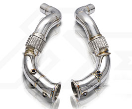 Fi Exhaust Sport Cat Pipes - 200 Cell (Stainless) for BMW 5-Series G