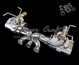 Power Craft Hybrid Exhaust Muffler System with Valves (Stainless)