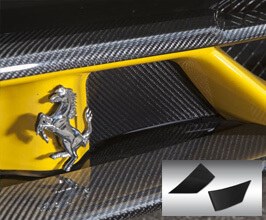 Novitec Front Bumper Flap Covers (Carbon Fiber) for Ferrari 458