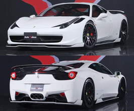 Auto Veloce Super Veloce Racing Full Aero Lip Spoiler Kit with Rear Wing (FRP) for Ferrari 458