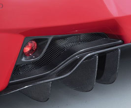 AIMGAIN Rear Fog Trim Covers with Round Fog Lights (Dry Carbon Fiber)