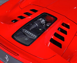 Capristo Engine Glass Bonnet (Carbon Fiber) for Ferrari 458