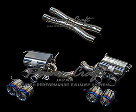 Power Craft Hybrid Exhaust Muffler System with Valves and X-Pipe (Stainless)