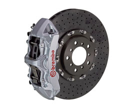 Brembo Rear 6-Piston Gran Turismo Brake System with Carbon Ceramic Drilled Rotors