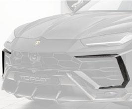 TopCar Design Front Bumper Duct Air Intake Splitters (Carbon Fiber)