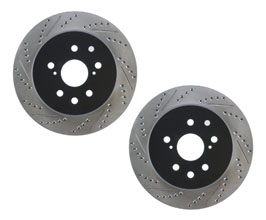 StopTech Sport 334mm Drilled and Slotted Brake Rotors - Front