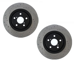 StopTech Sport 334mm Drilled Brake Rotors - Front