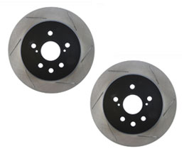 StopTech Sport 334mm Slotted Brake Rotors - Rear