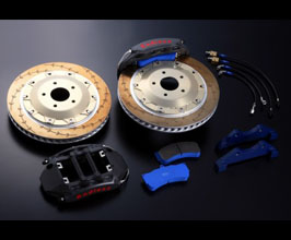 Endless Front Brake Kit - Racing MONO 6 GT Calipers and 400mm E-Slit Rotors