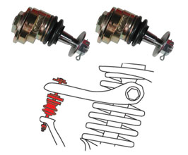 SPC Adjustable Camber Upper Control Arm Ball Joints - Front