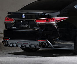 Mz Speed Prussian Blue Aero Rear Under Spoiler Diffuser (Quad Exhaust Type)