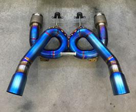 Unobtainium X-Pipe Loop Exhaust - 3 inch (Titanium)