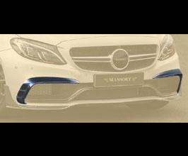 MANSORY Aero Front Bumper Grill Splitters (Carbon Fiber) for Mercedes C-Class C205