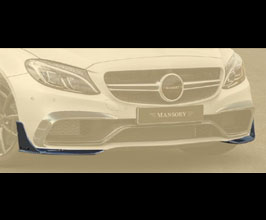 MANSORY Aero Front Bumper Lip Spoilers (Carbon Fiber) for Mercedes C-Class C205